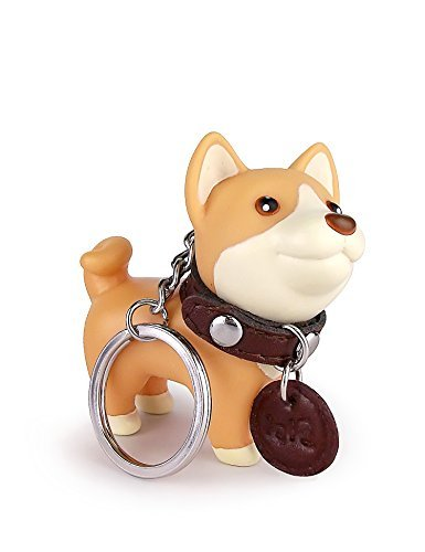 DomeStar Dog Keychain Charms, Shiba Inu Key Ring Cute Keychains Car Key Chain for Kids Adults