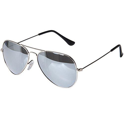 LianSan Brand Designer Classic Aviator Metal Frame Polarized Sunglasses Men Women Sun Glasses Lightweight 3025 (silver lenses)