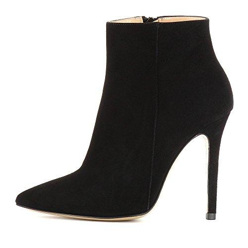Evita Shoes MIA Damen Stiefelette Rauleder Schwarz