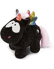 NICI 47376Knuffel Eenhoorn Yin 22 cm – Mystiek dierenspeelgoed voor meisjes, jongens, baby's en knuffeldieren liefhebbers, Pluche eenhoorns om te knuffelen en mee te spleen,zwart/bont
