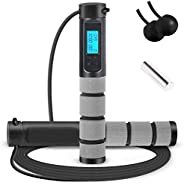 Jump Rope, Digital Weighted Handle Workout Jumping Rope with Calorie Counter for Training Fitness, Adjustable