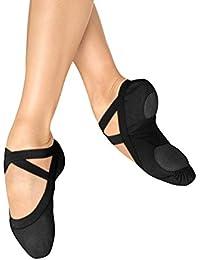 Dance Women's Pro Elastic Split Sole Canvas Ballet Slipper/Shoe