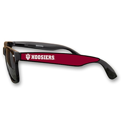 Indiana Hoosiers Black Plastic Frame Classic Sunglasses with Logo
