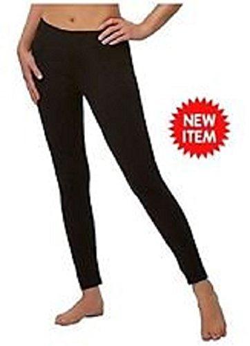Legging Velvety Super Soft LightWeight By Felina Black 2 Pack New Arrival (Medium, (Lightweight Legging)