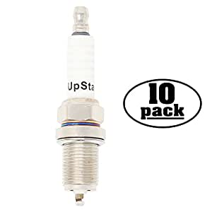 10-Pack Compatible Spark Plug for Yard Shark Power Equipment with Kohler 18 hp V-Twin - Compatible Champion RC12YC & NGK BCPR5ES Spark Plugs