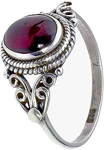 CHIC de Net Plata Joyas Anillos Rubin Cuerdas espiral arcos círculos alrededor de plata de ley 925 50 (15.9): Chic-Net: Amazon.es: Joyería