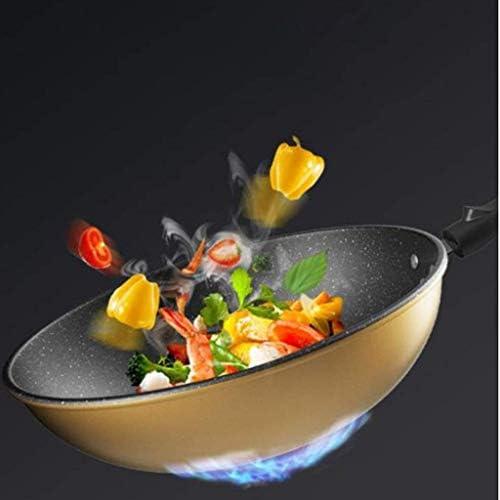 XXDTG Sauté de casseroles avec couvercle, cuivre avec poignée Skillet Aide en acier inoxydable, Sauteuse for induction, gaz, une cuisinière vitrocéramique électrique