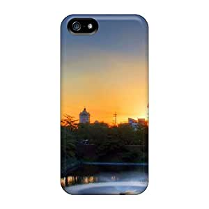 Fashion Xfr31113tHXa Cases Covers For Iphone 5/5s(pond Sunset Japanese)