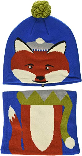 Columbia Kids & Baby Kids Snow More Beanie and Gaiter Set Toddler, Super Blue Fox, One Size