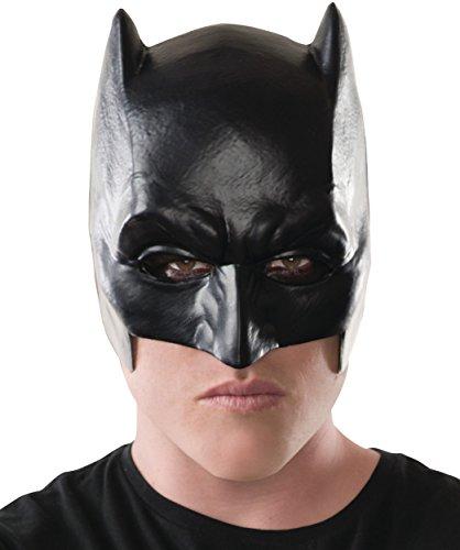 Latex Batman Halloween Mask (Rubie's Men's Batman v Superman: Dawn of Justice Adult Half Mask, Multi, One)
