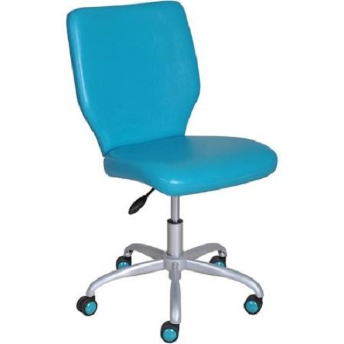 HOME Office Chair For Girls Adjustable Furniture Reception Chairs Computer Desk Seat Youth Teen In Teal Color
