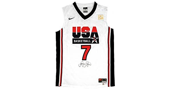 size 40 fe560 87694 Larry Bird Signed Official NBA White USA Nike Basketball ...