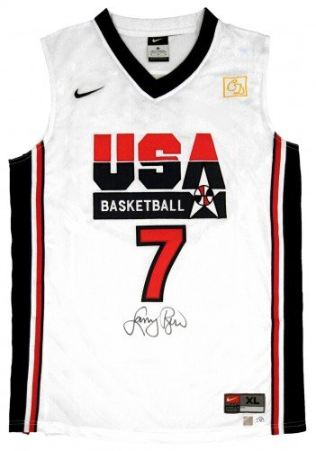 Larry Bird Signed Official NBA White USA Nike Basketball Jersey