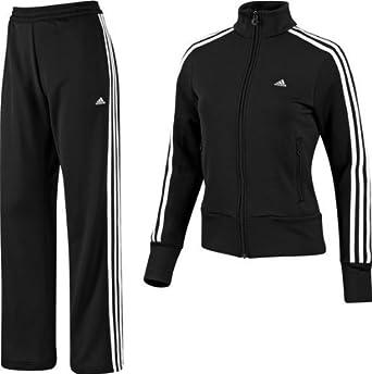 adidas Chándal para Mujer ESS 3S Knit Negro Blanco/Negro Talla:44 ...