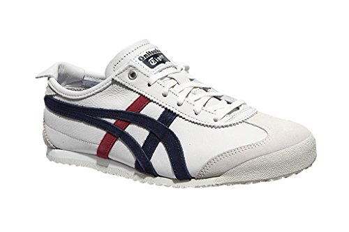 Shoes Tiger Blue Onitsuka Running Unisex Mexico 66 Adults' Bianco w1dgq4xYg