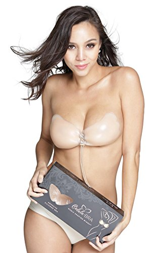 def03d8af4564 Holly O OOlala Backless Adhesive Sticky Strapless Silicone Nude Nubra  Pushup Bra