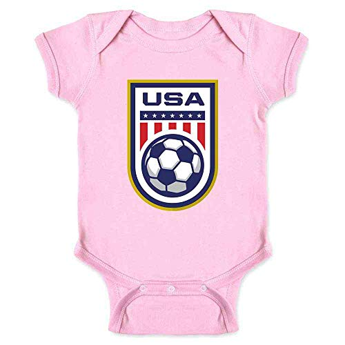 USA Soccer Team National Crest Girls or Boys Pink 18M Infant Bodysuit -