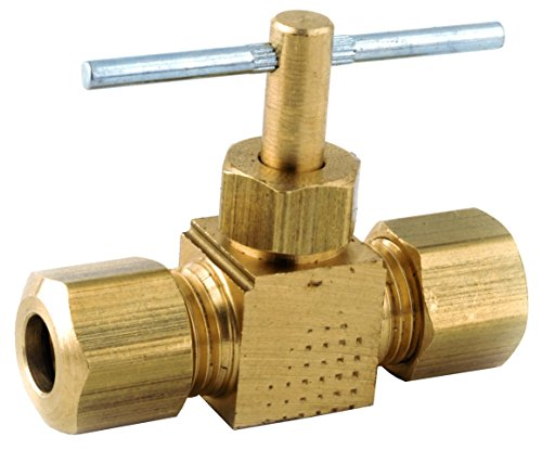 Anderson Metals 759106-04 1/4-Inch by 1/4-Inch Straight Needle Valve, Brass