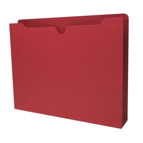 S.P. Richards Company File Jacket, Letter, 11-Point, 2-Inch Expansion, 400 Capacity, 50 per Box, Red (SPR26564)