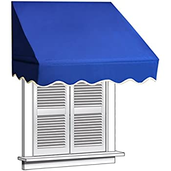 ALEKO 4x2 Blue Window Awning Door Canopy 4 Foot Decorator