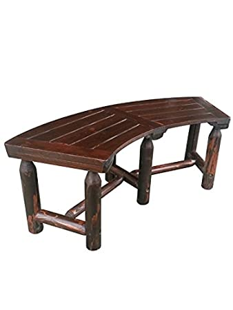 Leigh Country Char Log Curved Bench