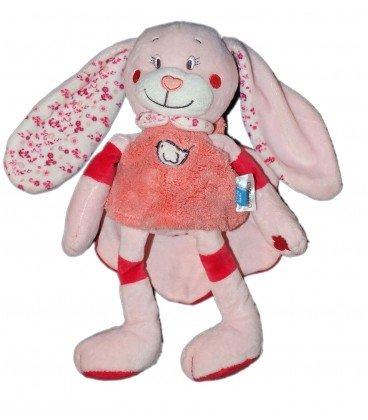 Doudou peluche conejo rosa pájaro Cape Tex Baby CMI Carrefour: Amazon.es: Bebé