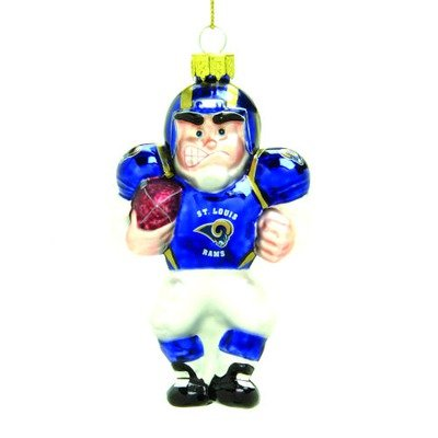 St. Louis Rams - Blown Glass Football Player Ornament (Player Ornament Blown)