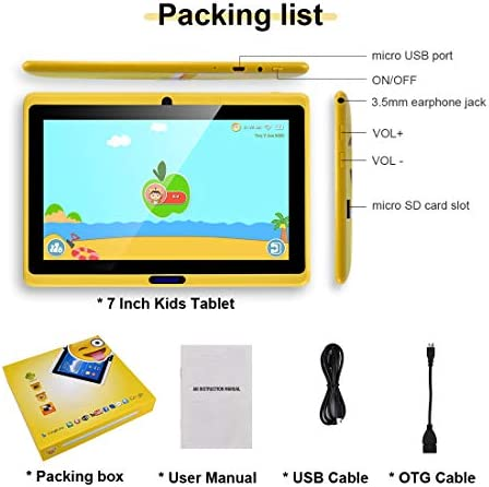 CARRVAS Tablet for Kids, 7inch WiFi & Android 8.1 KidsTablet 1G(RAM)+16G, Pre-Installed Iwawa, Parenting Control Tablet with Educational Games App 41EIDAZM 2B3L