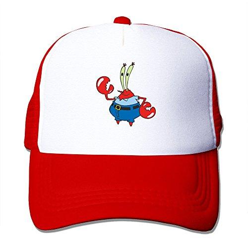 Spongebob Squarepants Mr. Krabs Crab Fashion Cool Mesh Cap Hats - Mtm Fashion