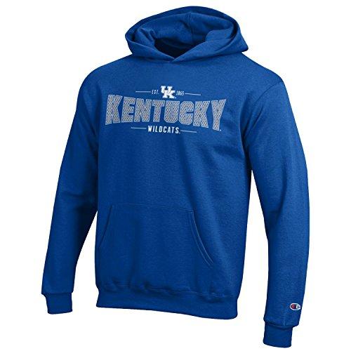 Champion NCAA Kentucky Wildcats Youth Boys Fleece Hoodie, Large, Royal Blue