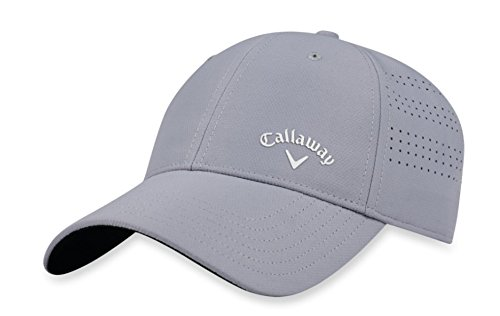 Callaway Golf 2018 Women's Opti Vent Adjustable Hat, Silver/ White