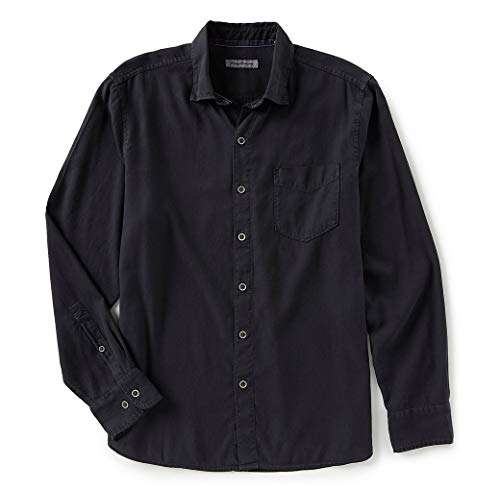Tommy Bahama Dobby Dylan L/S Button Down (Black, Large) (Tommy Bahama Lyocell Shirts)