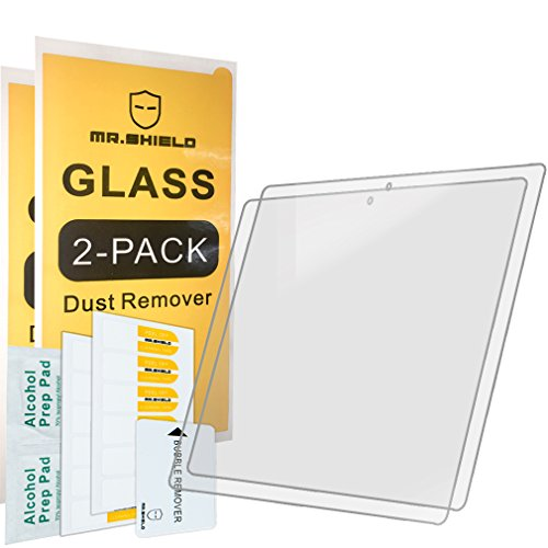 [2-PACK]-Mr Shield For Google Pixel C Tablet [Tempered Glass] Screen Protector [0.3mm Ultra Thin 9H Hardness 2.5D Round Edge] with Lifetime Replacement Warranty