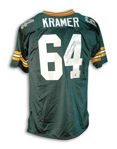low priced 958a6 e5a41 Jerry Kramer Green Bay Packers Throwback Jersey Inscribed