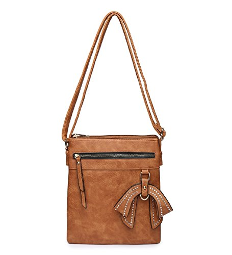 Charm Brown Ladies Bag Travel Bag Body Handbag Bow MA34956 Women's Shoulder Cross Messenger 57Bq6XnxB