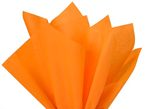 Brand New Tangerine Light Orange Bulk Tissue Paper 15 Inch x 20 Inch - 100 Sheets Premium Quality Gift WRAP Paper A1 Bakery Supplies HIGH Quality Paper Made in USA