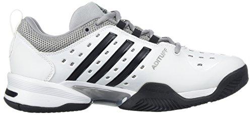 Adidas Barrikade Klassiske Bred 4e Tennissko, Sort / Sølv Metallic / Hvid, 6 M Os Hvid / Sort / Mid Grå