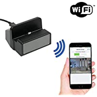 SpygearGadgets 1080P HD WiFi Internet Live Streaming iPhone Charger Dock Hidden Camera / Nanny Cam / Home Security Camera | Model HC430w
