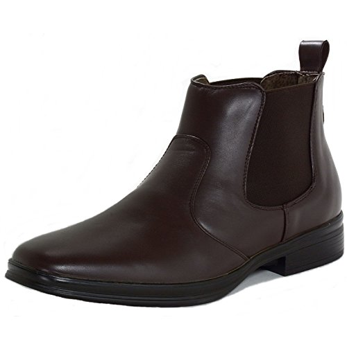 Alpine Swiss Sion Mens Chelsea Ankle Boots Brown 12 M