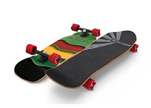 Shark Wheel Fathom Rasta Cruiser Longboard Complete, Green - Shark Complete Skateboard