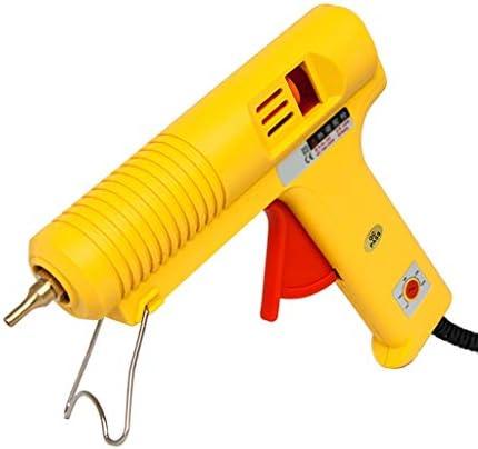 Minmin DIY家庭や手工芸品、子供の大人の家族の芸術の創造、クリスマスの飾り、黄色のために使用されるホットグルーガン、60W-150W調節可能な温度グルーガン、高速で加熱、 ミニ (Color : Yellow)