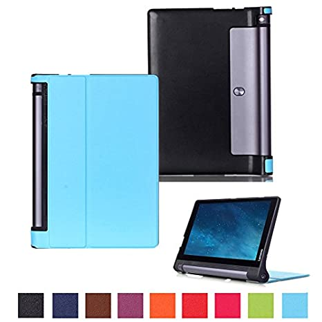 Funda para Lenovo Yoga Tab 3 10 yt3 de x50 F 10.1 pulgadas Case Stand Slim Flip Book Cover Folio Skin X50L azul Hellblau2>
