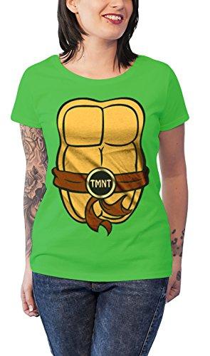 [Teenage Mutant Ninja Turtles T Shirt Costume new Official Womens Junior Fit] (Ninja Turtle Female Costumes)