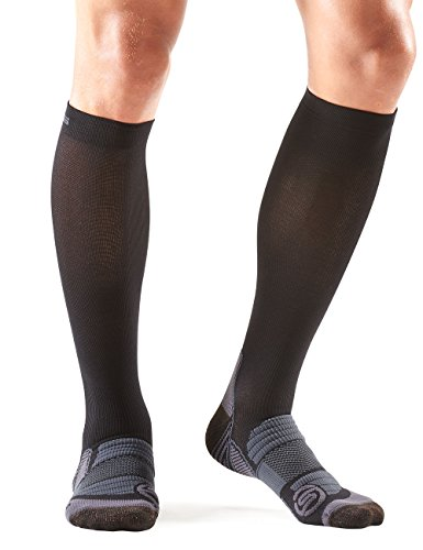 (Skins Essentials A400 Compression Socks, Black/Charcoal, Small)