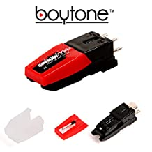 Boytone Stylus - Cartridge with ceramic needle for most turntable record players.