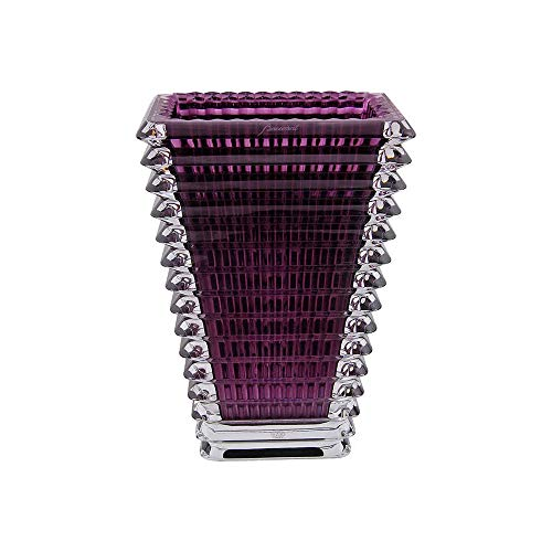 Baccarat Eye Purple Small Rectangular Vase 2802305