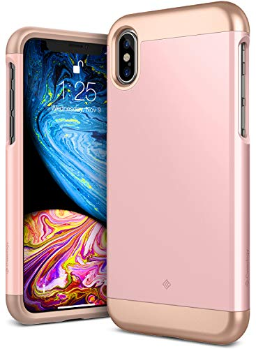 Caseology Savoy for iPhone Xs Case (2018) - Stylish Design - Rose Gold