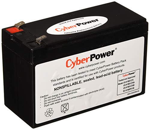 CyberPower RB1270B Replacement Battery Cartridge, Maintenance-Free, User Installable from CyberPower