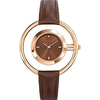 GO Girl Only - 698670 - Reloj Mujer - Cuarzo Analógico - Reloj marrón - Pulsera Piel Marrón: Amazon.es: Relojes