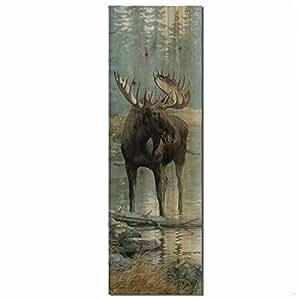 WGI Gallery WA-QWM-824 Quiet Water Moose Wall Art